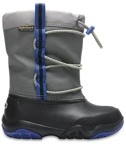 Śniegowce dziecięce CROCS Swiftwater Waterproof Boot K czarne 2046570DE