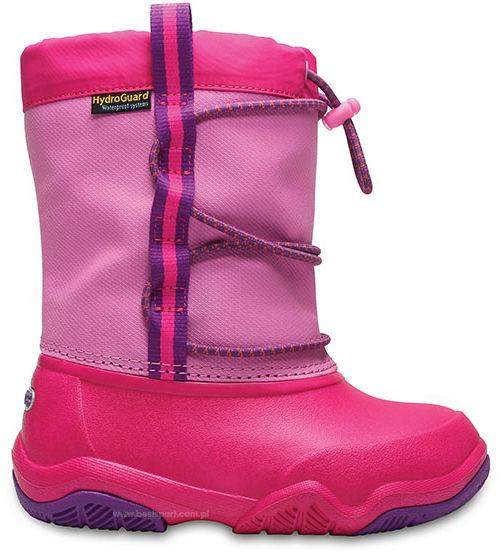 Śniegowce CROCS Swiftwater Waterproof Boot K różowe2046576LA