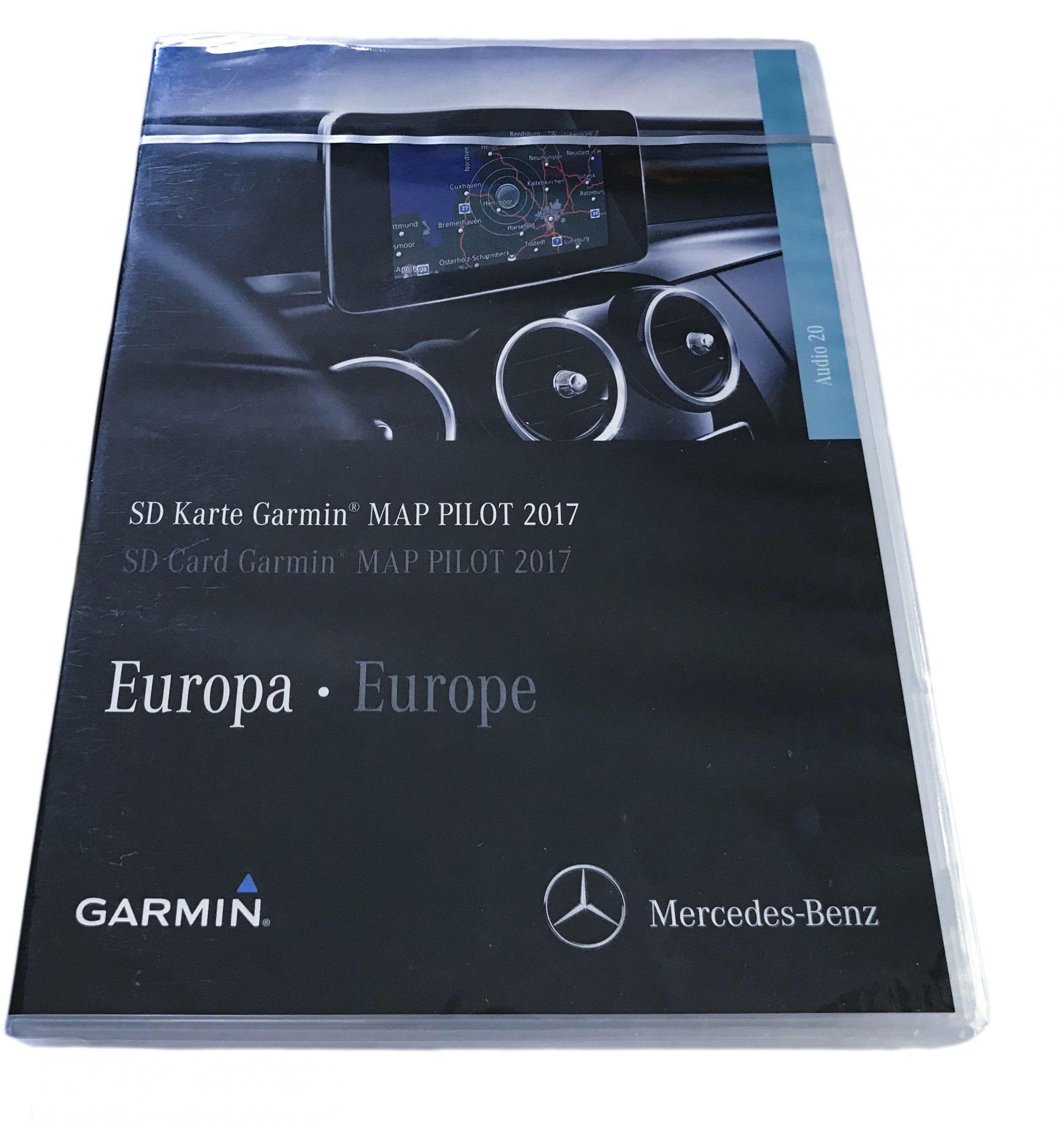 Nowa Oryginal Mapa Garmin MAP PILOT V. 8.0 2017 SD Karta Mercedes C-Klasse W205 W213 V-Klasa A2139065604