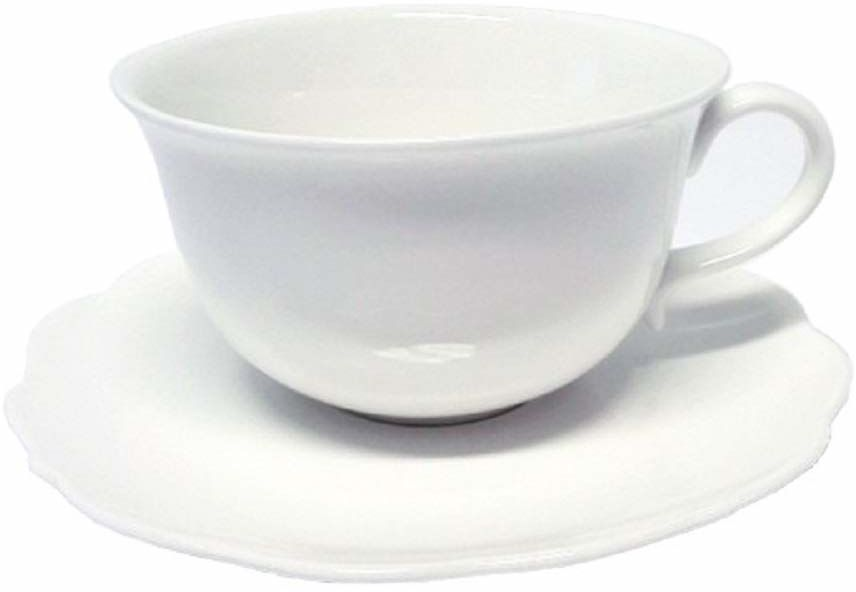 Ambition 61172 serwis do kawy Grace 12-częściowy biały filiżanki filiżanki zestaw filiżanek zestaw naczyń do kawy porcelana nowoczesny elegancki