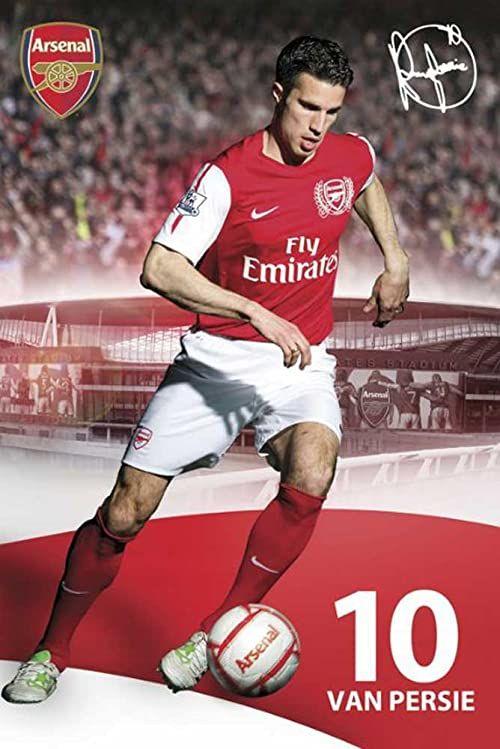 Plakat piłkarski Arsenal Londyn van Persie Design 11/12 i dodatkowe przedmioty wielokolorowe