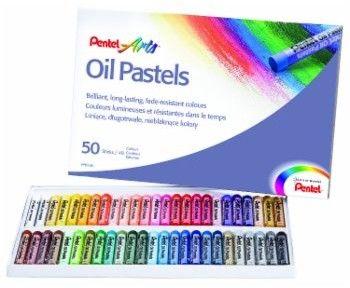 Pastele olejne 50 kolorów PENTEL PHN-50 U1 (kredki pastelowe olejne)