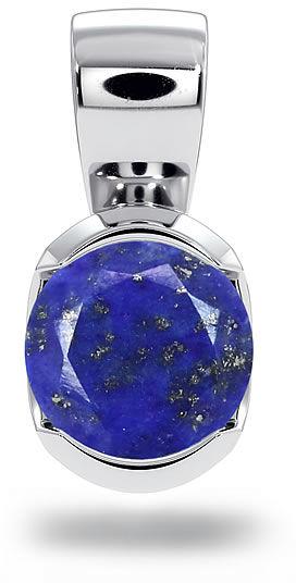 Kuźnia Srebra - Zawieszka srebrna, 11mm, Lapis Lazuli, 1g, model