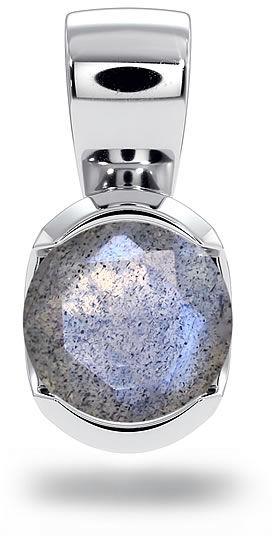 Kuźnia Srebra - Zawieszka srebrna, 11mm, Labradoryt, 1g, model