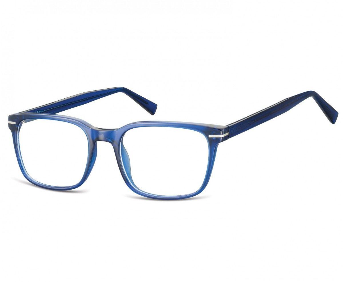 Okulary oprawki korekcyjne Nerdy zerówki Sunoptic CP119B granatowe transparentne