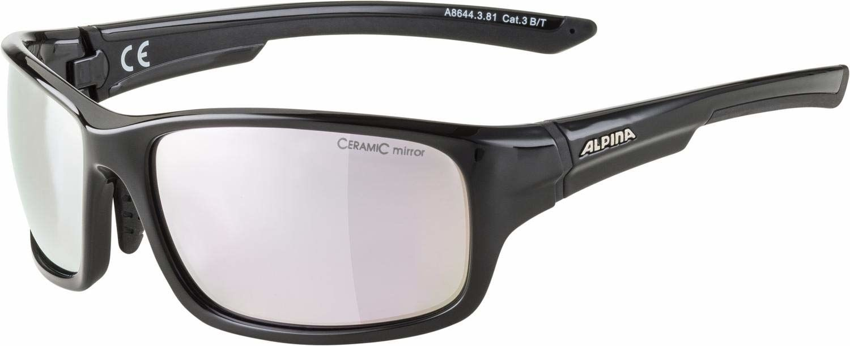 ALPINA Unisex - Dorośli, LYRON S Okulary sportowe, black gloss/rose-gold, One Size