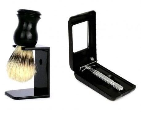 Pędzel do golenia + maszynka PISc+MA028