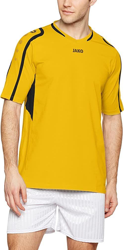 Jako męska koszulka do siatkówki blok, mężczyźni, 4197, cytrus/czarny, S