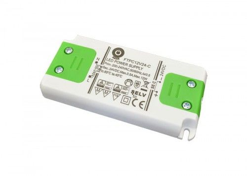 Zasilacz LED 12W 24V 0,5A meblowy POS Power