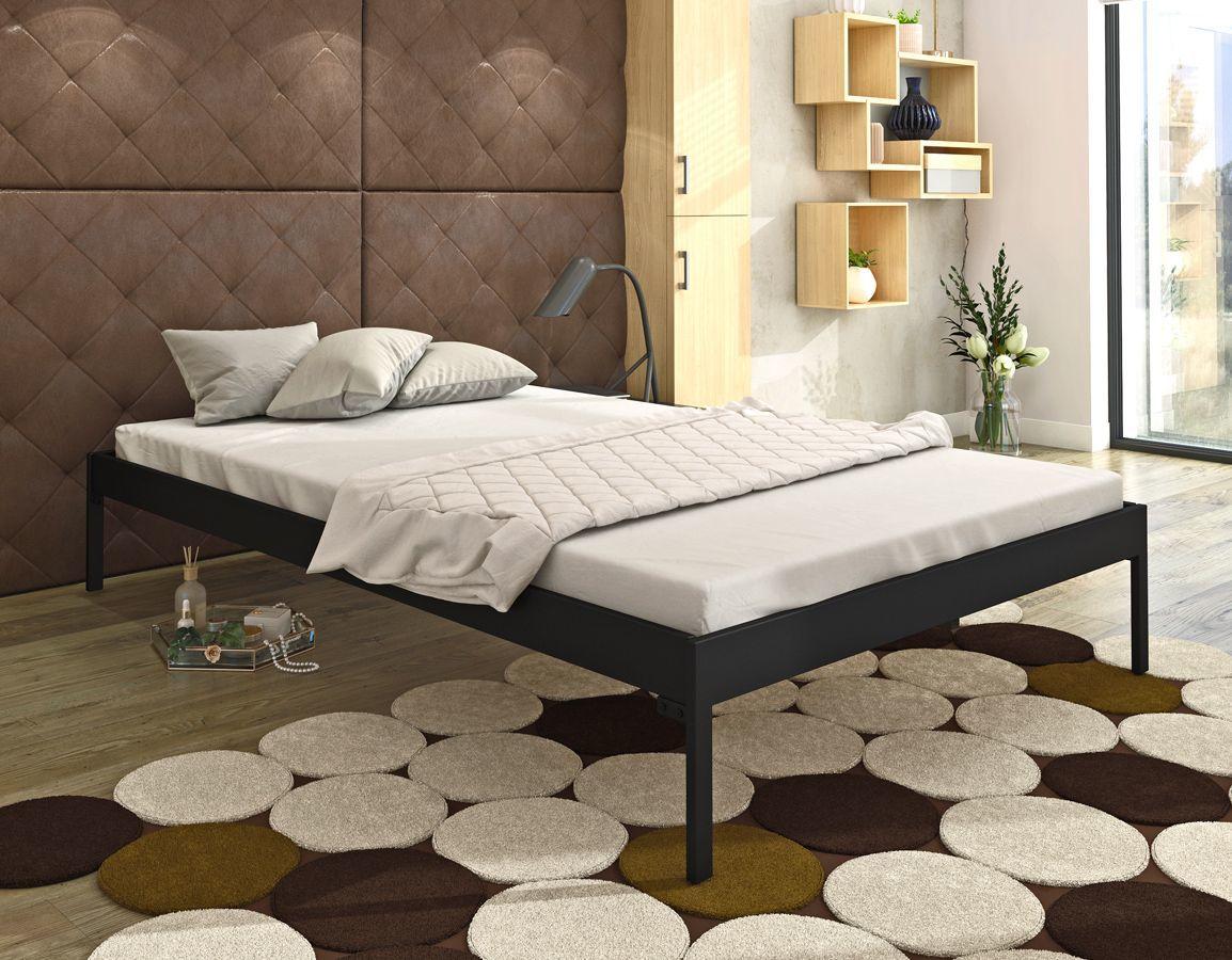 Jednoosobowe łóżko metalowe Margo 90x200 - 17 kolorów