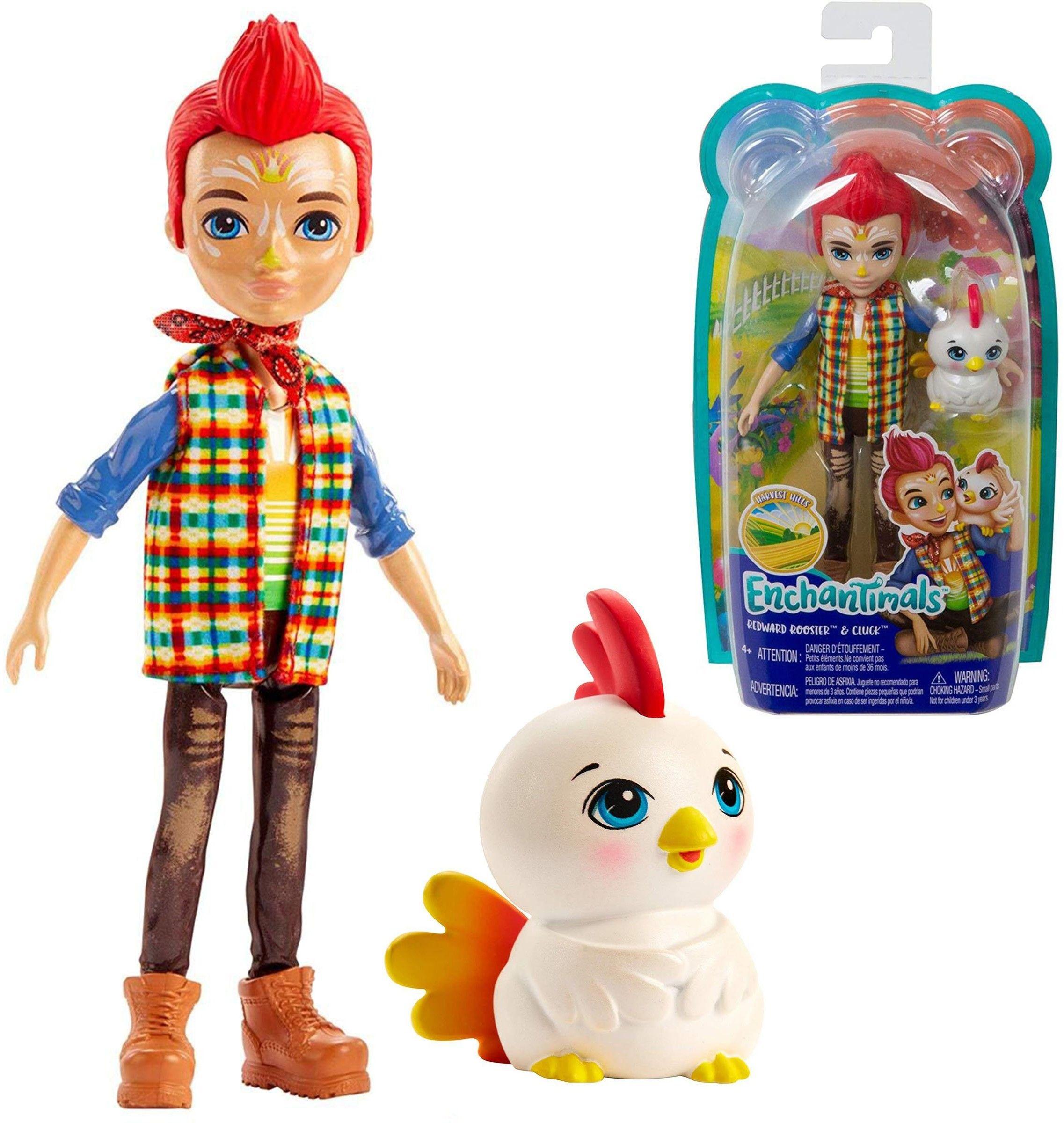 Enchantimals Lalka + zwierzątko Redward Rooster & Cluck GJX39