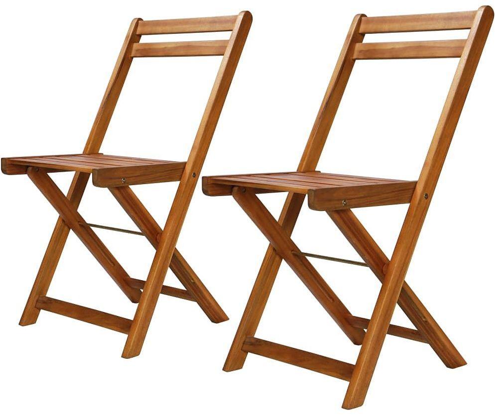 Zestaw drewnianych krzeseł ogrodowych Emert - brązowy