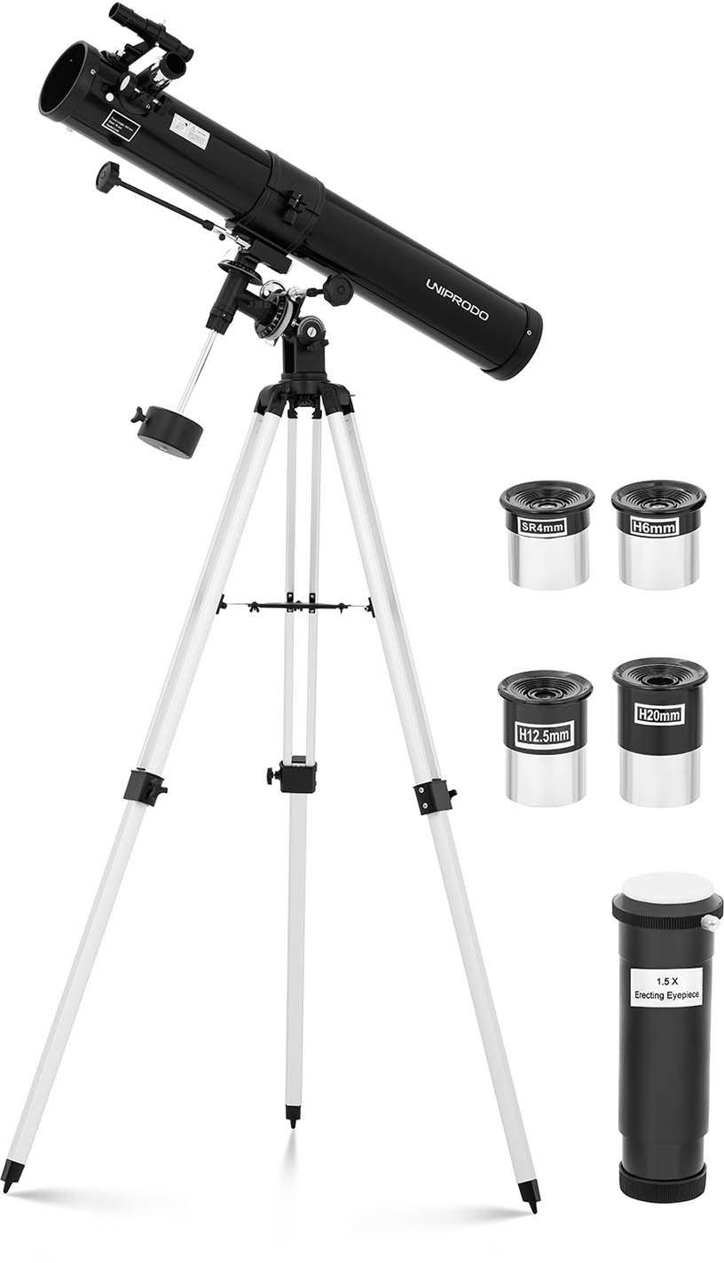 Teleskop Newtona - 900 mm - lustro 76 mm - Uniprodo - UNI_TELESCOPE_10 - 3 lata gwarancji/wysyłka w