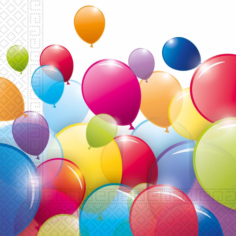 Procos 91667P Serwetki papierowe balony kompostowalne, wielokolorowe
