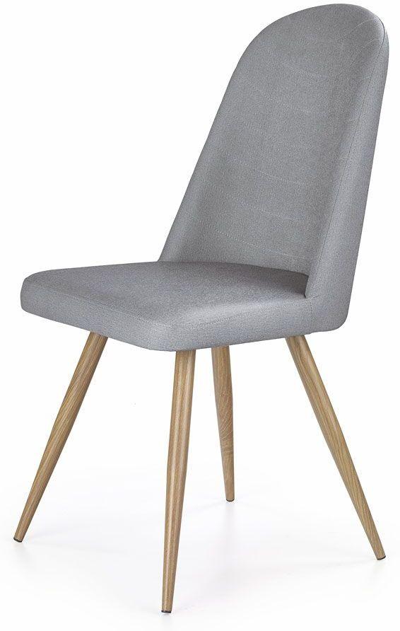 Skandynawskie krzesło Dalal - popielate