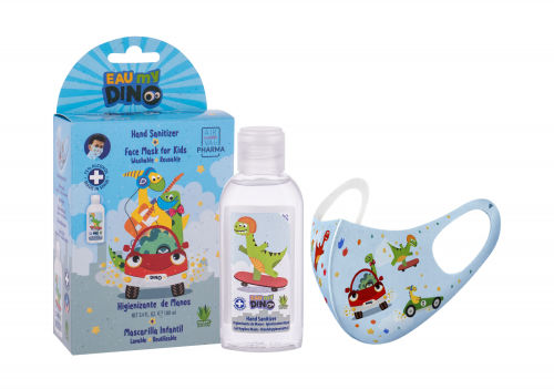 Eau My Dino Eau My Dino zestaw Żel do dezynfekcji rąk 100 ml + Maseczka 1 szt dla dzieci