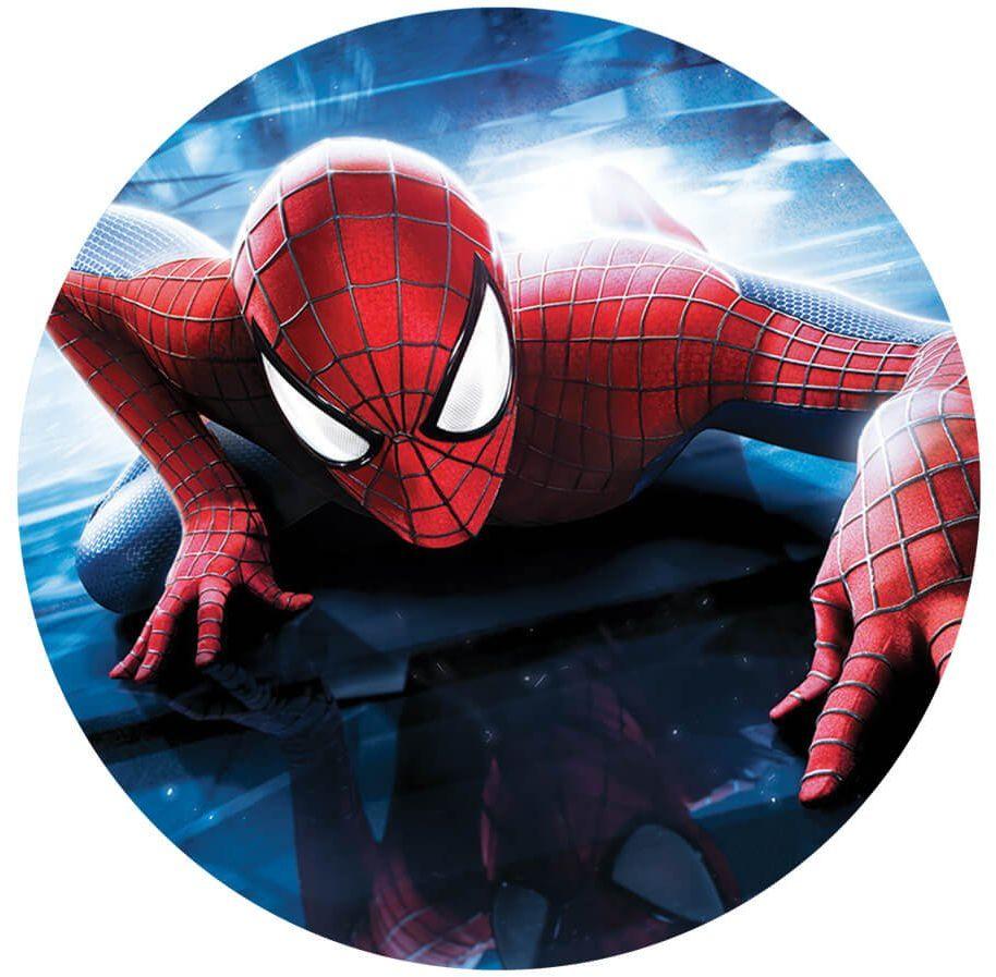 Dekoracyjny opłatek tortowy Spiderman - 20 cm