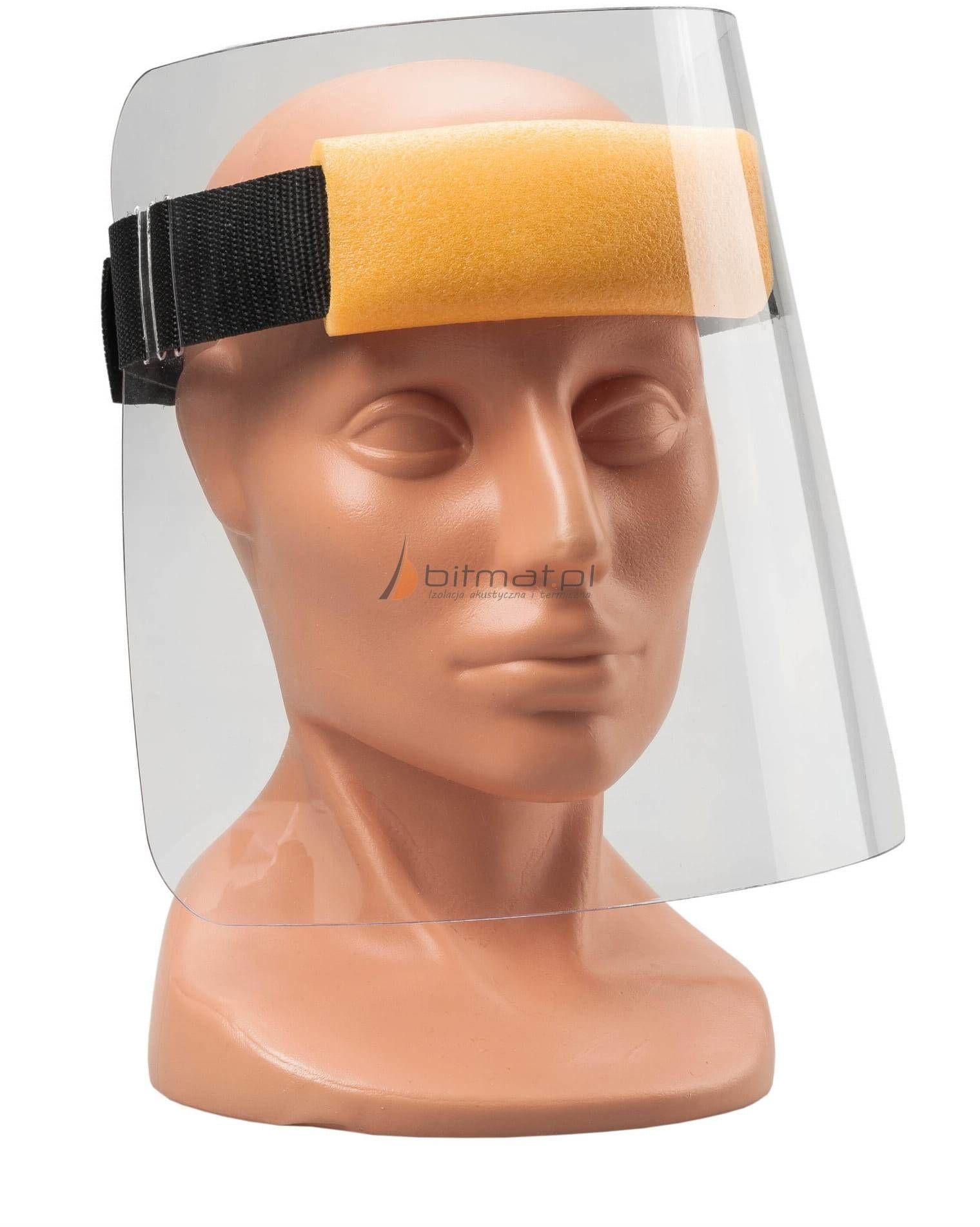 Przyłbica ochronna na twarz, ochrona twarzy z pianką ochronną