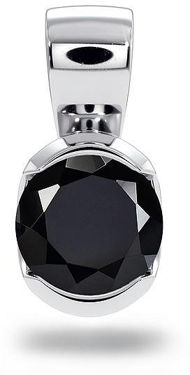Kuźnia Srebra - Zawieszka srebrna, 11mm, Czarny Onyks, 1g, model