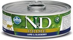 N&D CAT PRIME LAMB BLUEBERRY ADULT 80G