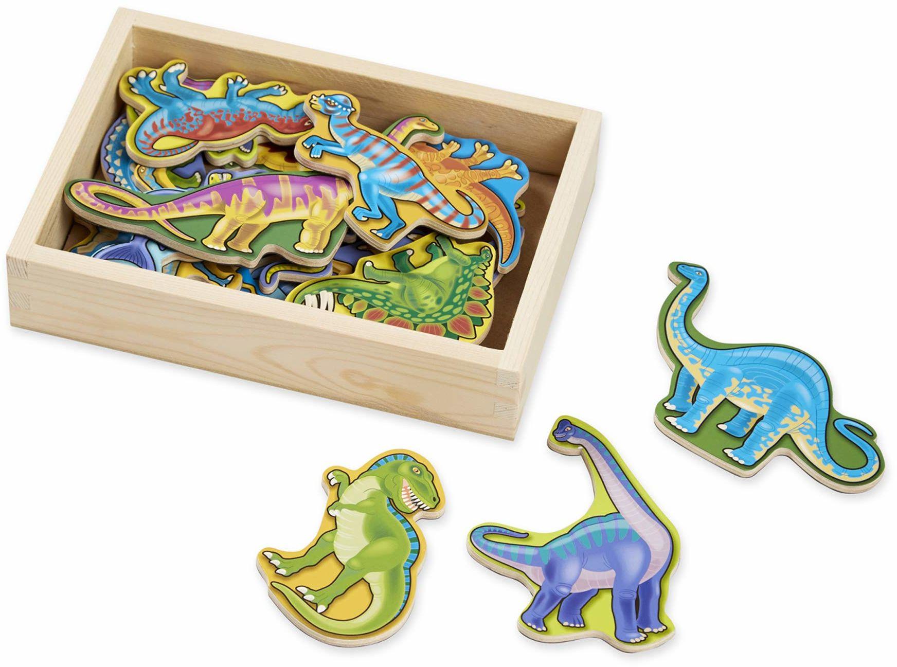 Melissa & Doug Magnesy dinozaurowe z drewna (20 części)
