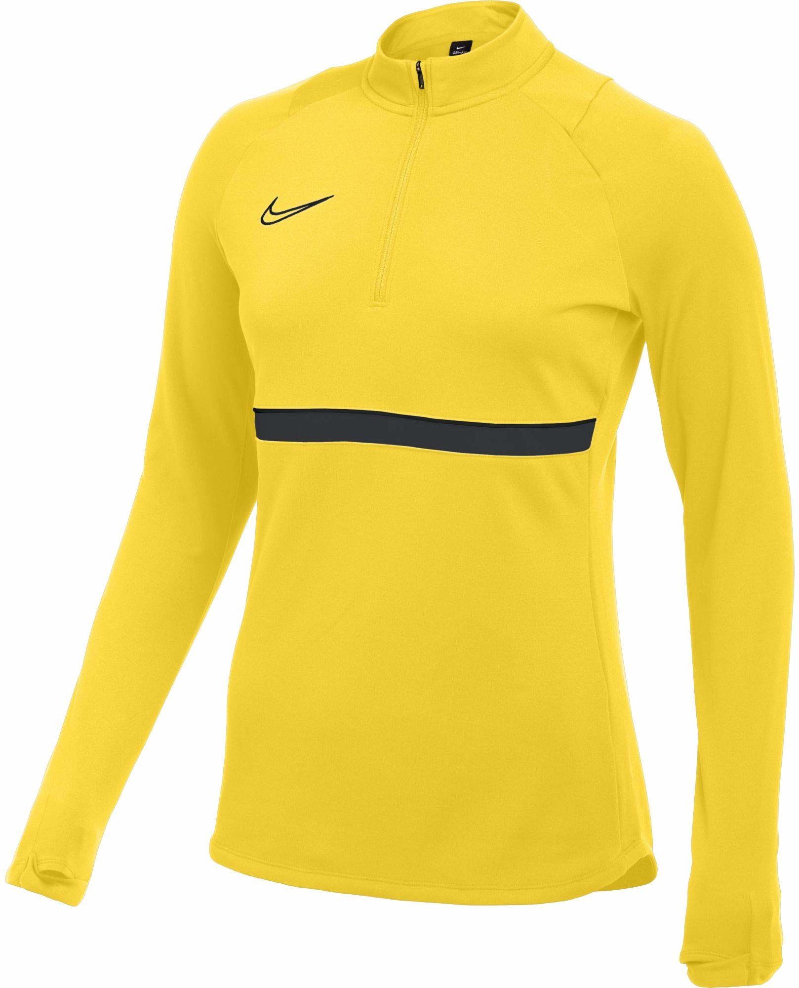 Nike Damska bluza treningowa Academy 21 Drill Top Tour żółty/czarny/antracytowy/czarny M