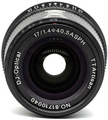 Obiektyw TTArtisan 17mm f/1,4 - mocowanie Fujifilm X