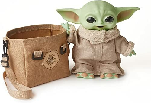 Disney Star Wars Mandalorian The Child Baby Yoda Funktionsplüsch & Tasche Geschenkset