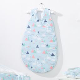 MAMO-TATO Śpiworek niemowlęcy do spania Bubble Łabędzie błękitne