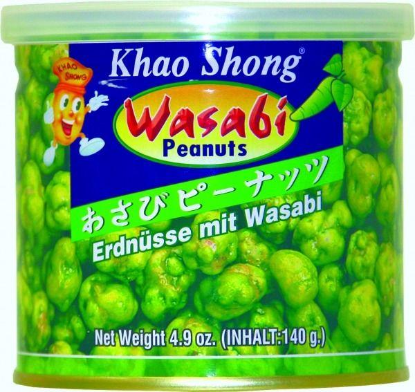 Orzeszki ziemne z wasabi 140g - Khao Shong