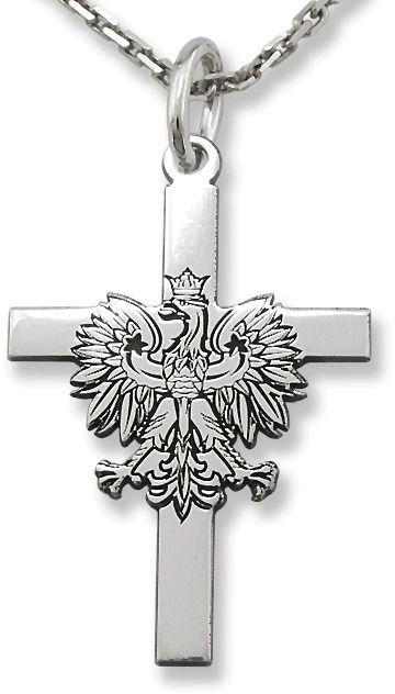 Krzyżyk srebrny z orzełkiem kr-9