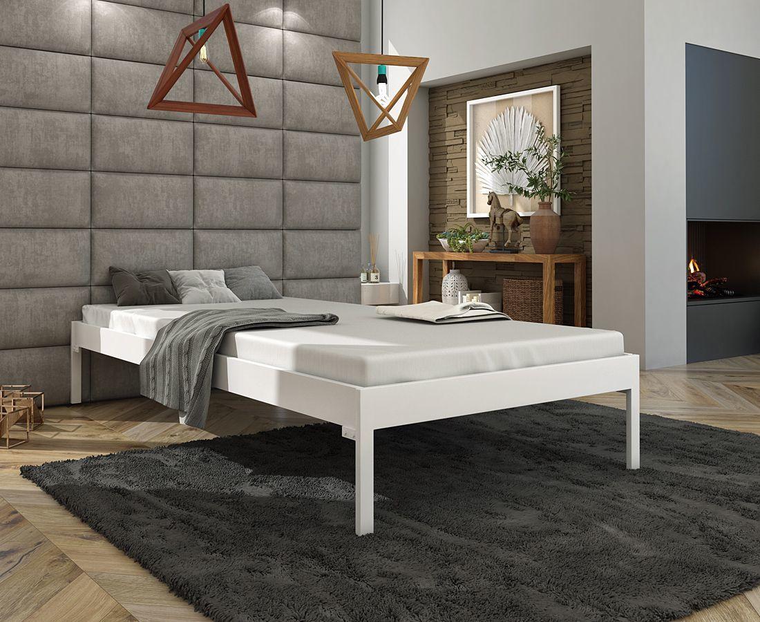 Metalowe łóżko dwuosobowe Margo 200x200 - 17 kolorów
