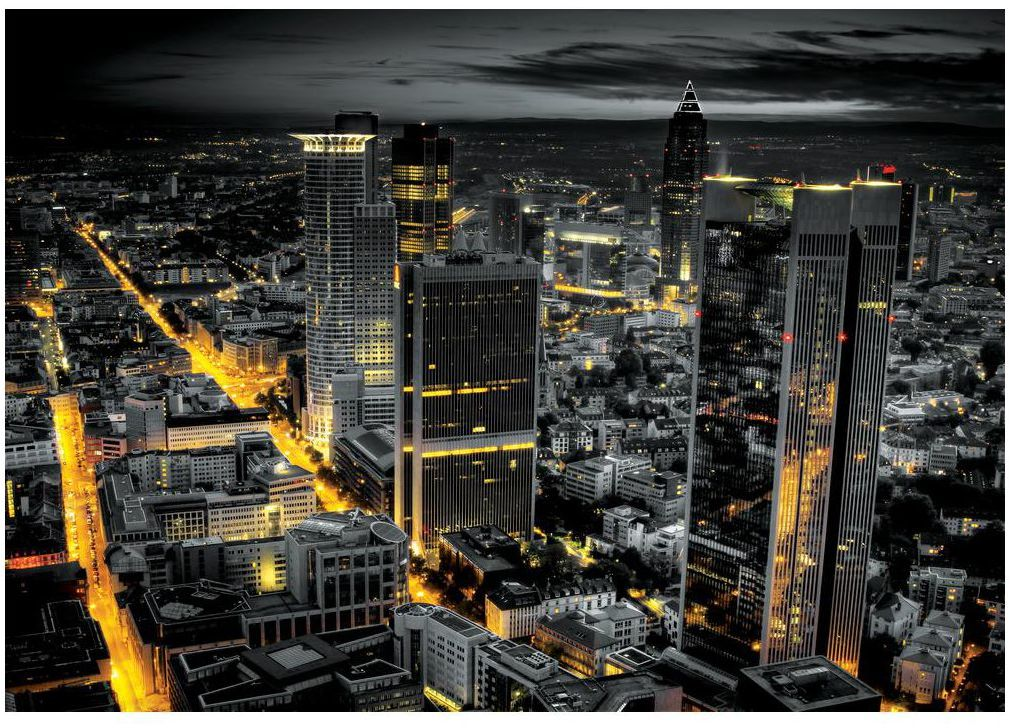 Fototapeta Miasto z lotu 368 x 254 cm