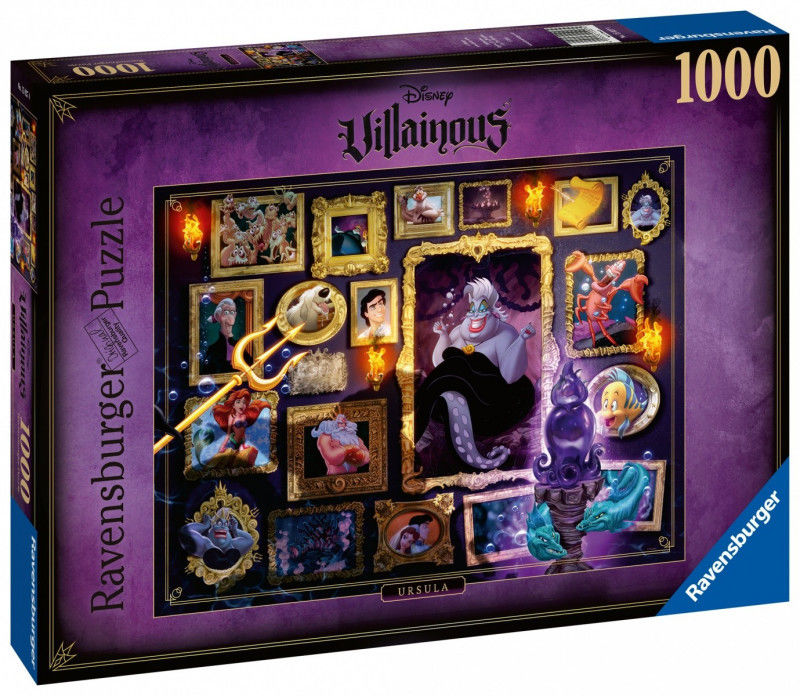 Ravensburger - Puzzle Czarne charaktery Disney - Mała syrenka 1000 el. 150274