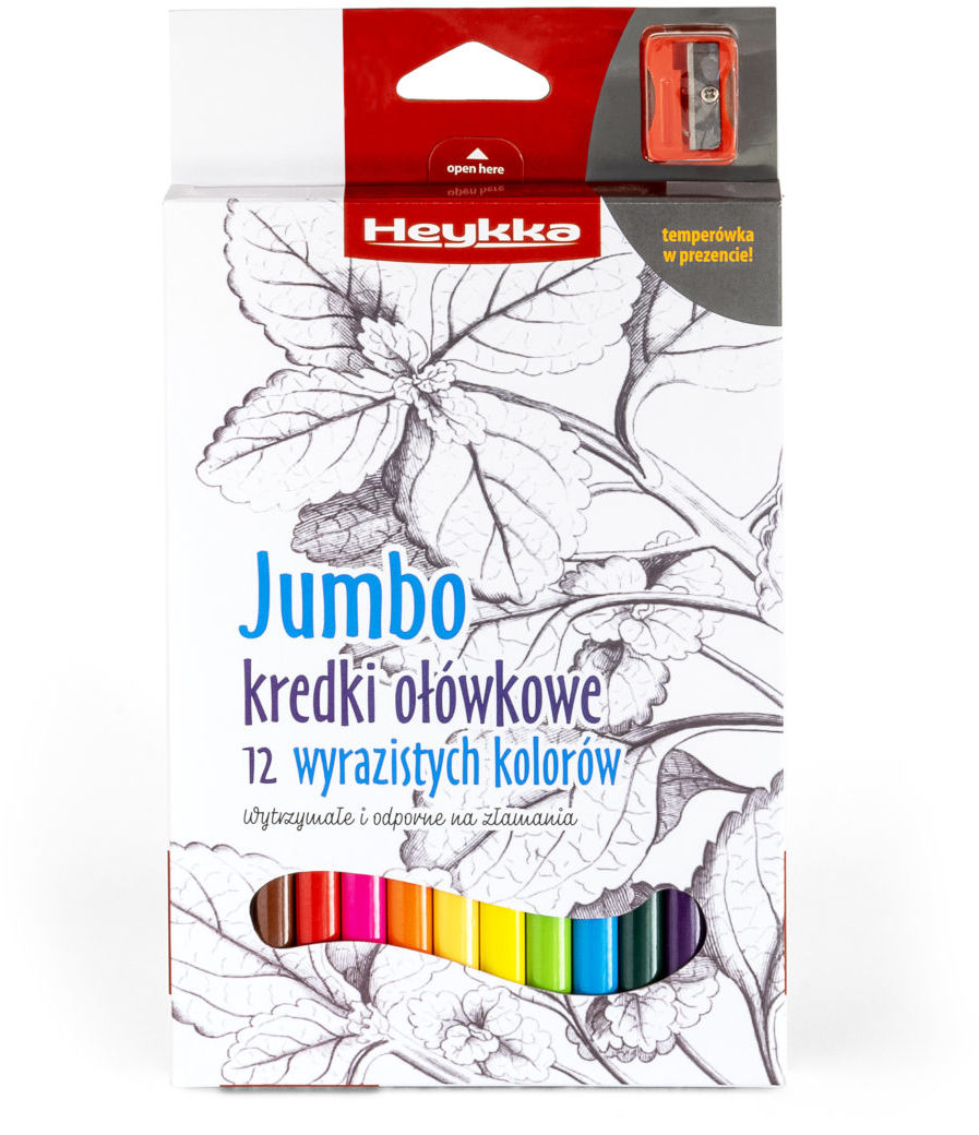 Kredki ołówkowe JUMBO 12 sztuk