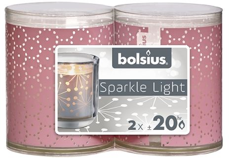 Świeca ze świecznikiem 64/52 Sparkle Light 2szt.
