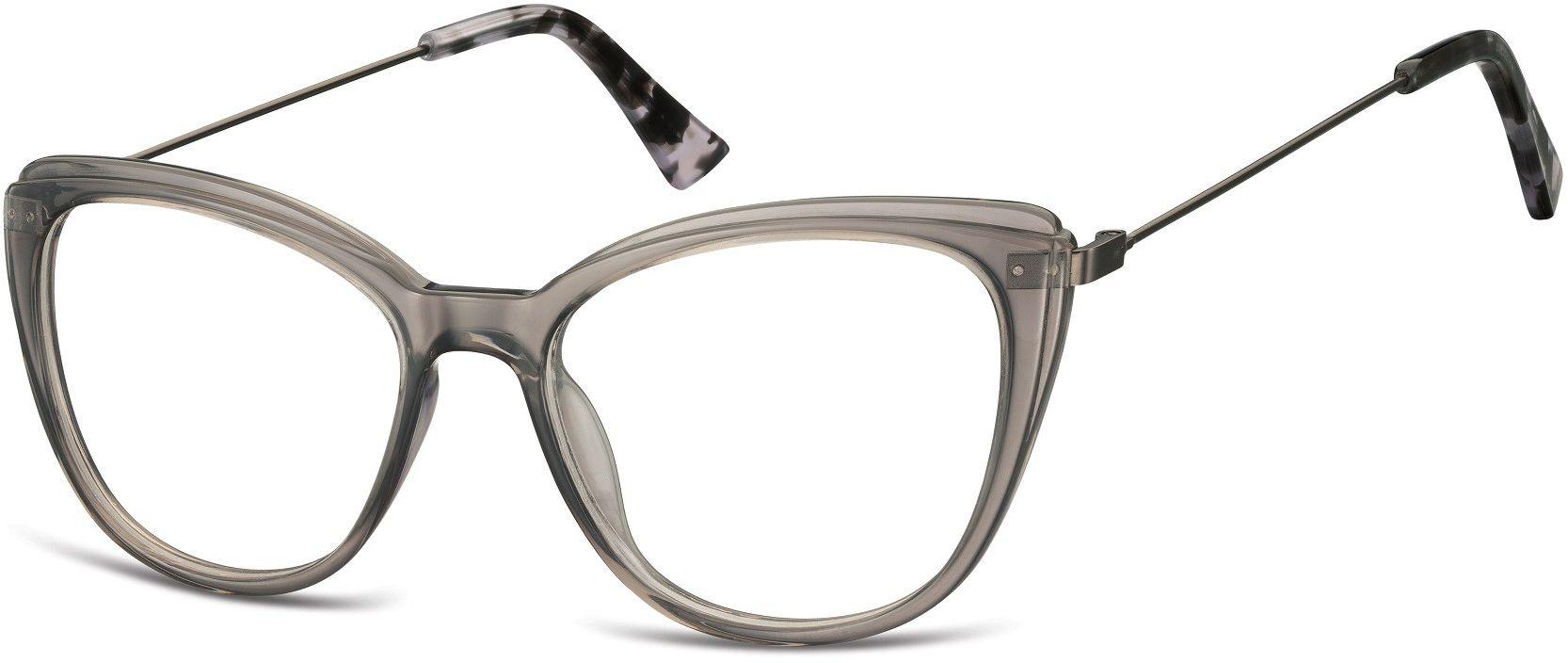 Oprawki korekcyjne okulary Kocie Oczy zerówki damskie CP121A szare