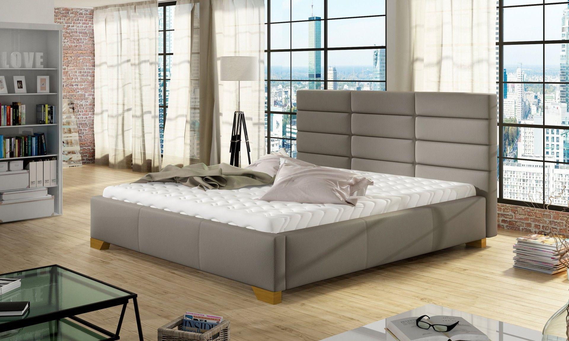 Łóżko tapicerowane MARS 140x200 z pojemnikiem i stelażem - tapicerka do wyboru!