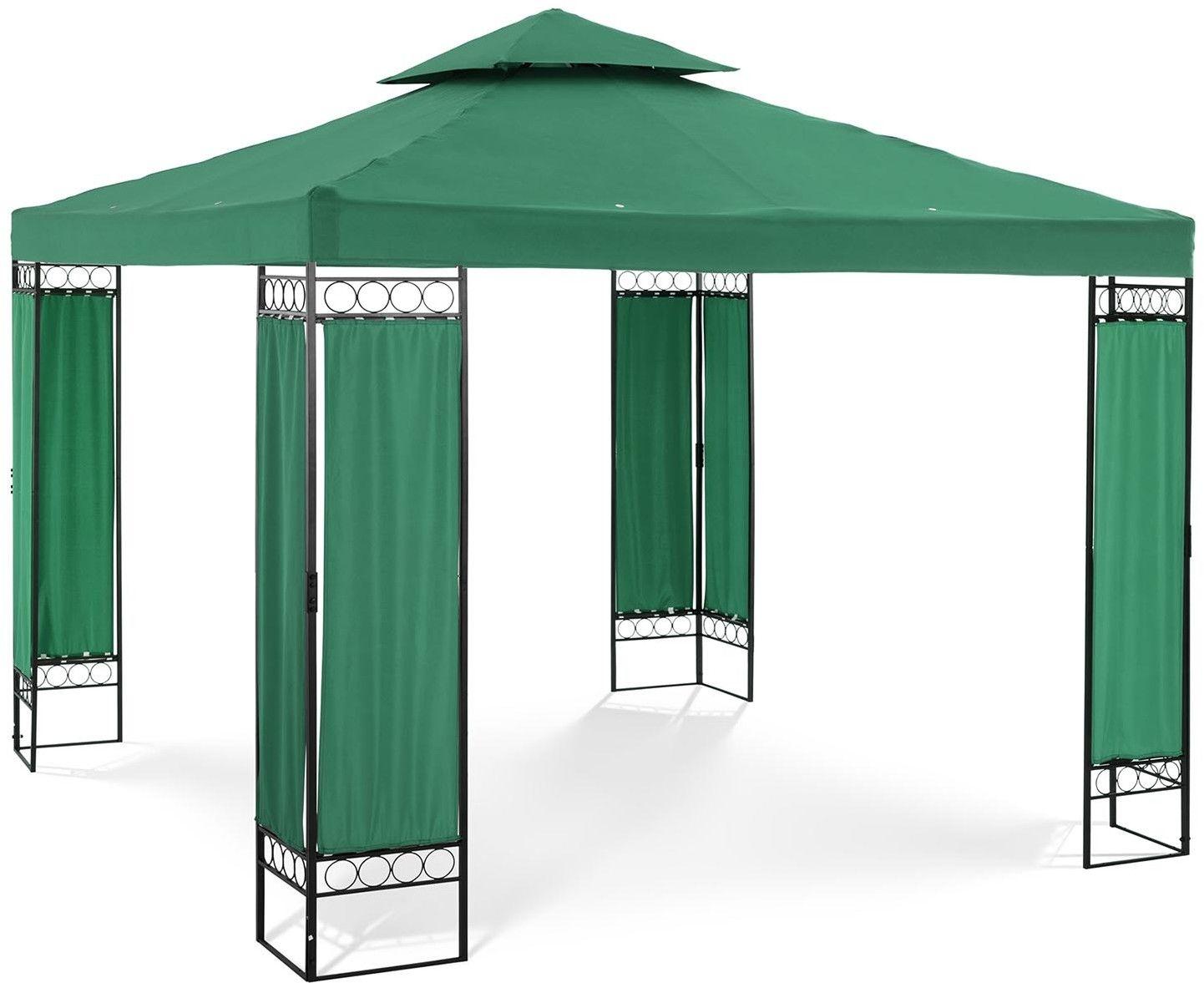 Pawilon ogrodowy - ciemnozielony - kwadratowy - Uniprodo - UNI_PERGOLA_3X3GF - 3 lata gwarancji/wysyłka w 24h