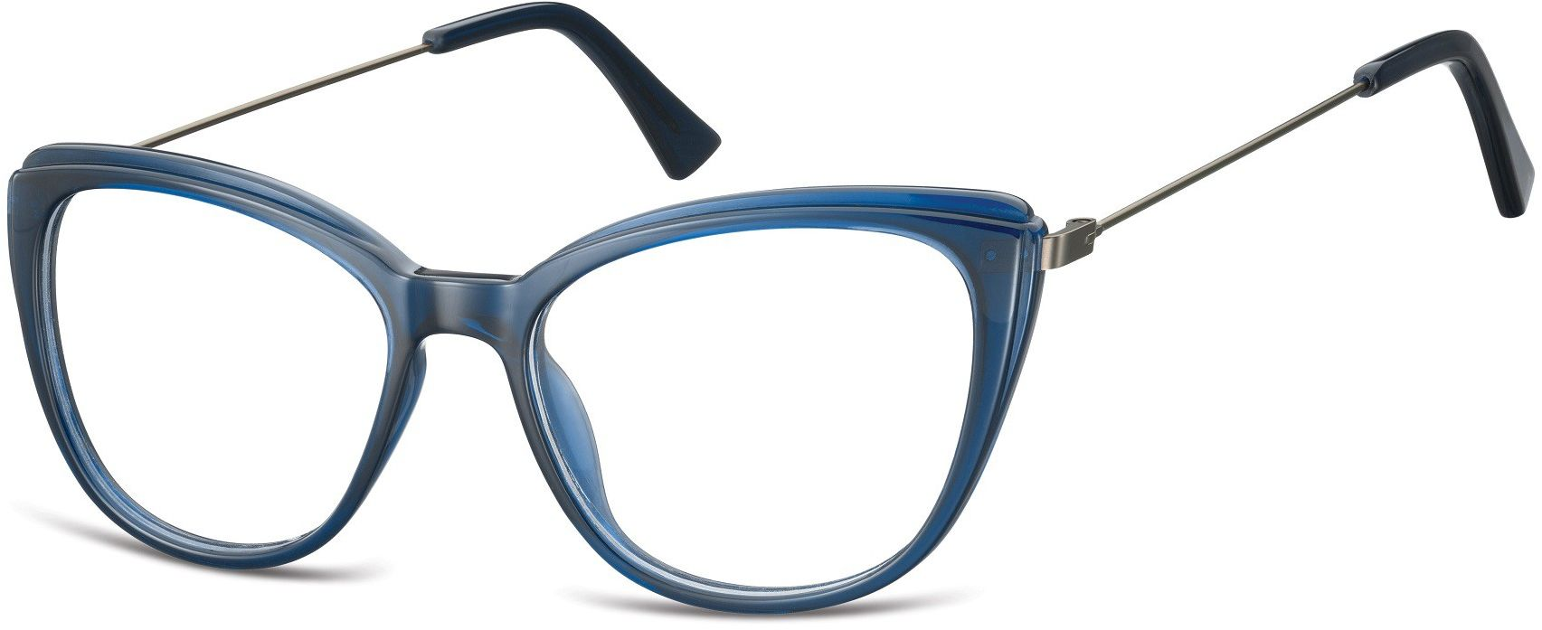 Oprawki korekcyjne okulary Kocie Oczy zerówki damskie CP121B granatowe