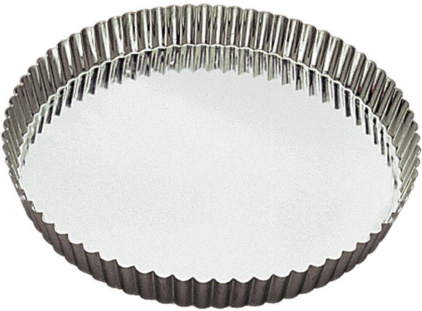 Gobel 126520 tortownica, forma do ciasta, okrągła, rowkowana dno, żelazo, kolor biały, Ø 20 cm