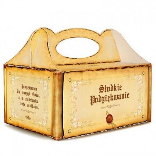 Pudełko na ciasto weselne Styl Królewski