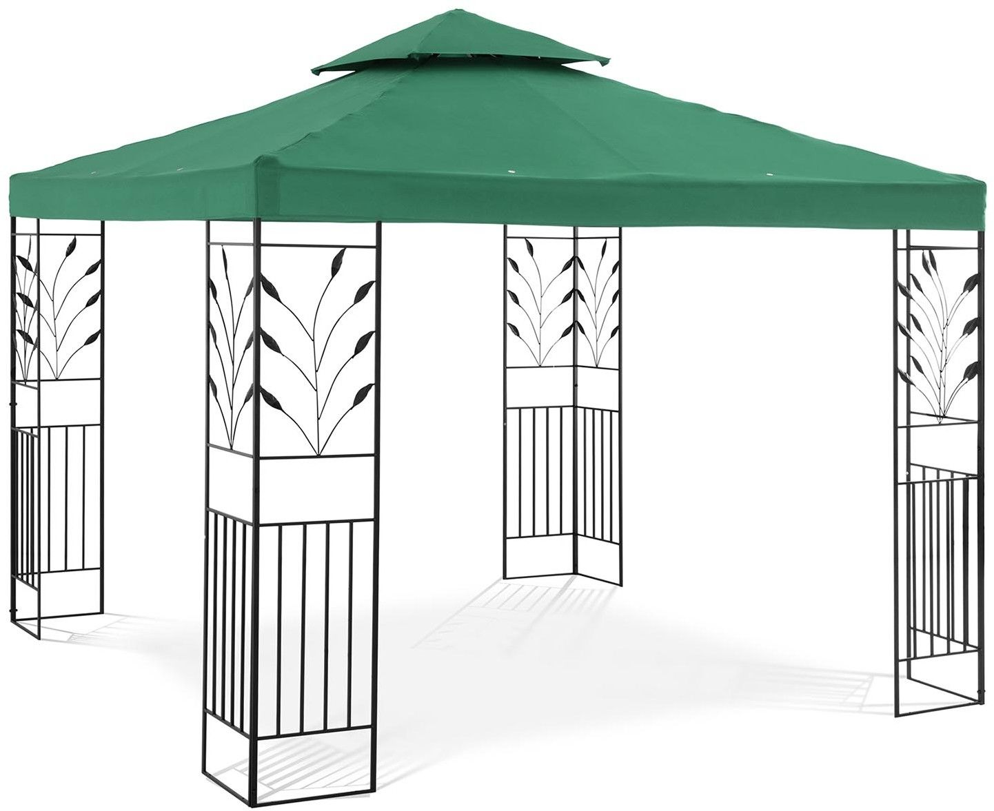 Pawilon ogrodowy - ornament - ciemnozielony - Uniprodo - UNI_PERGOLA_3X3G - 3 lata gwarancji/wysyłka w 24h