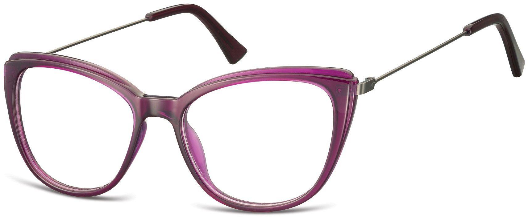 Oprawki korekcyjne okulary Kocie Oczy zerówki damskie CP121C fioletowe