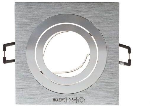 Oprawa punktowa 1x50W GX5,3 IIIkl. 12V IP20 SEIDY CT-DTL50-B kwadratowa czarna 18289