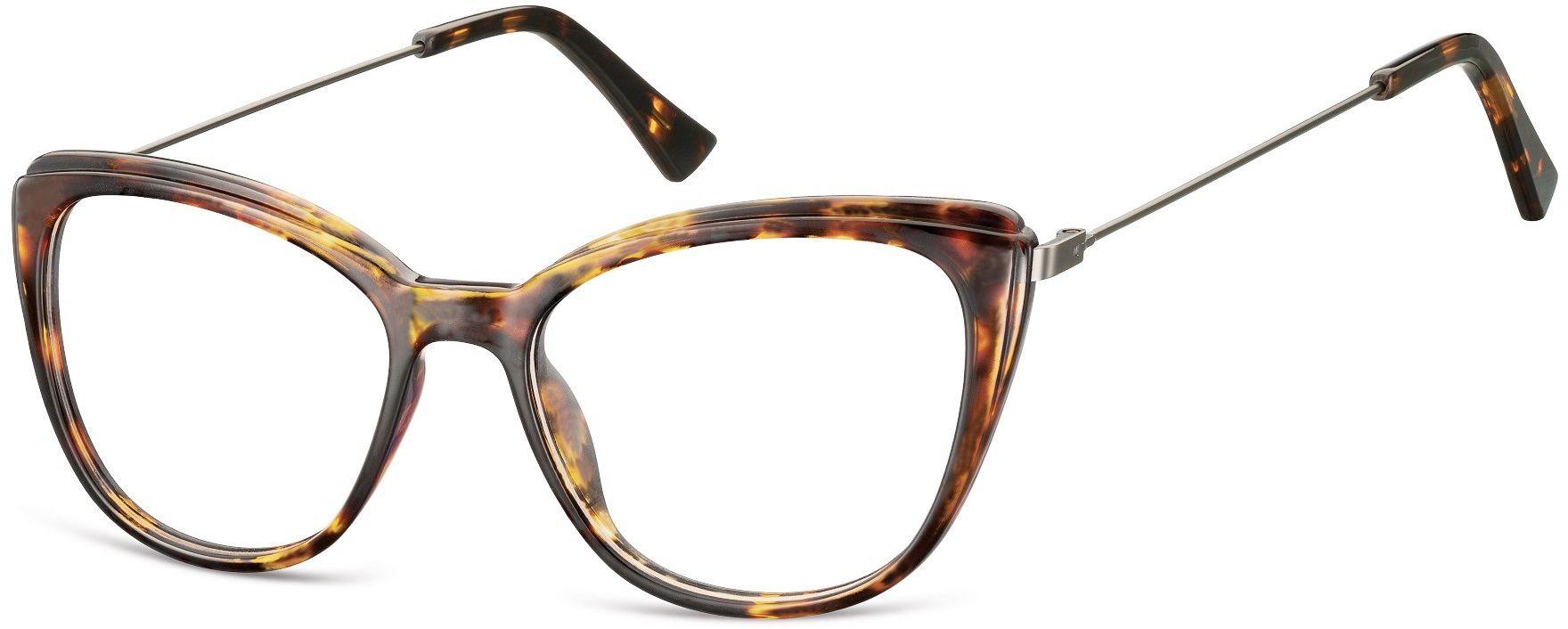 Oprawki korekcyjne okulary Kocie Oczy zerówki damskie CP121D szylkret