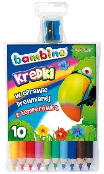 Kredki ołówkowe 10 kolorów BAMBINO - ST-MAJEWSKI