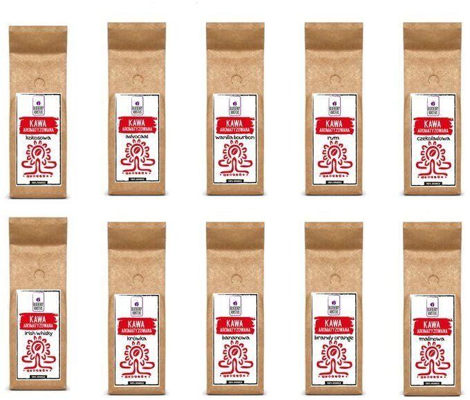 Zestaw ziarnisty kaw aromatyzowanych 10 x 100 g