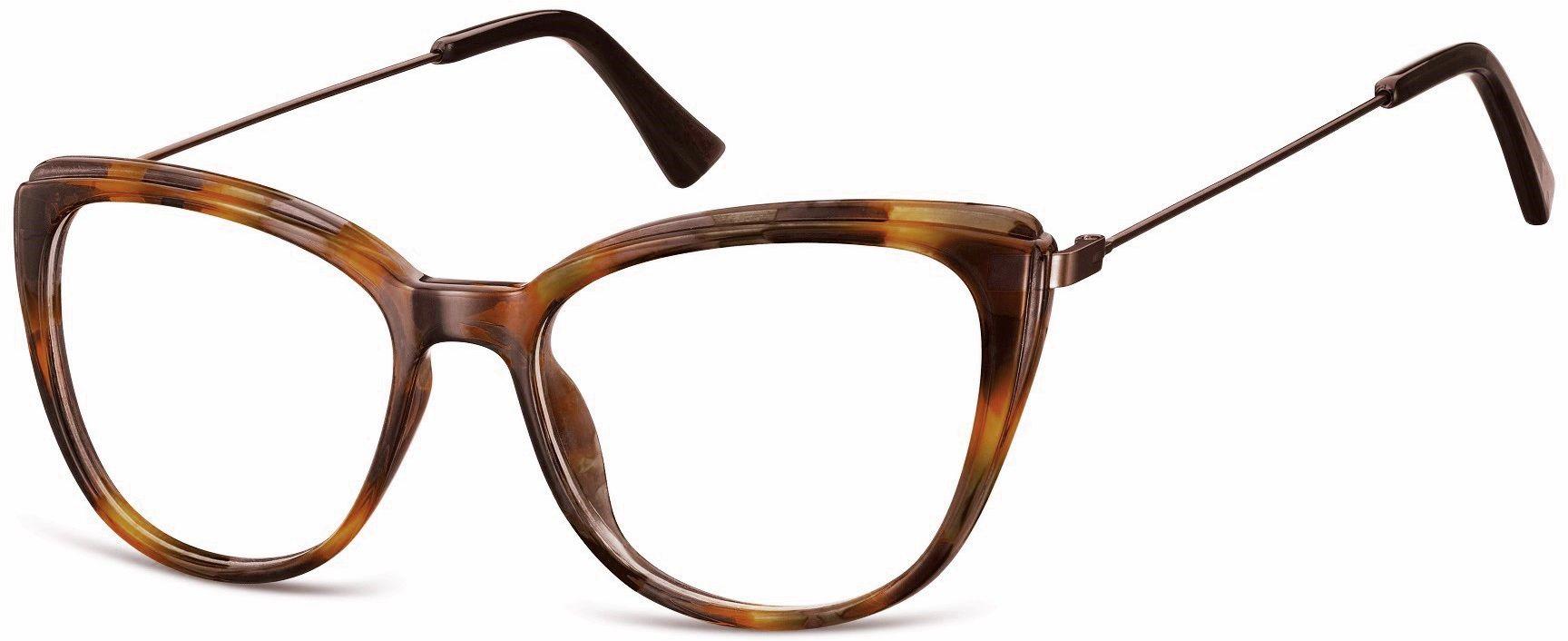 Oprawki korekcyjne okulary Kocie Oczy zerówki damskie CP121E ciemny szylkret