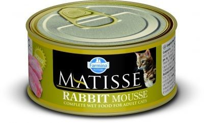 MATISSE CAT MOUSSE z królikiem PUSZKI 12X85g.